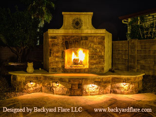 Dan's Backyard Fireplace